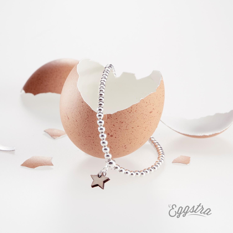 L'Oeuf bracelet élastiqué en perles
