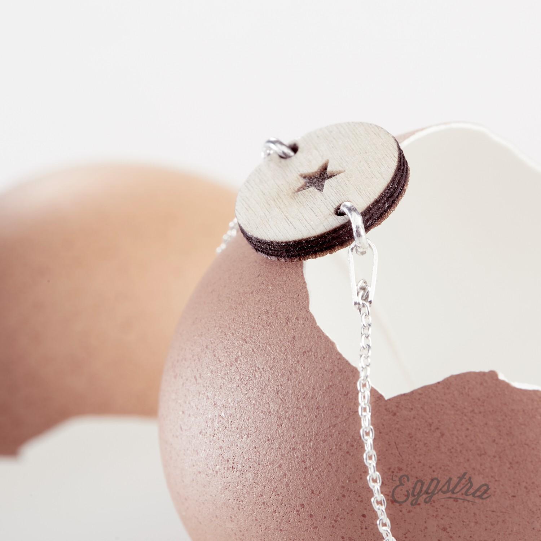 L'Oeuf bracelet gourmette bois