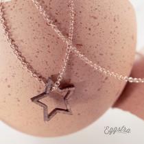 L'oeuf collier étoile bois