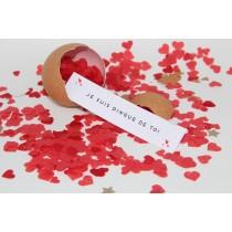 """L'oeuf confettis coeur et son message """"sur-mesure"""""""